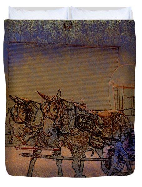 Westmoreland Mule Day Duvet Cover by EricaMaxine  Price