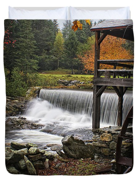 Weston Grist Mill Duvet Cover by Priscilla Burgers