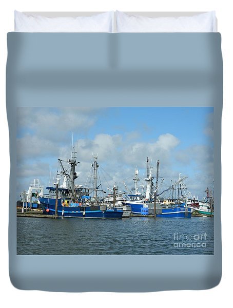 Westport Fishing Boats Duvet Cover by Chalet Roome-Rigdon