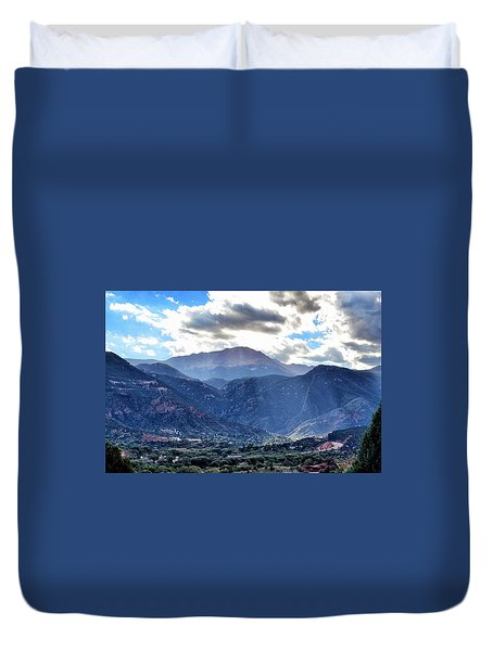 Westside Colorado Springs Duvet Cover