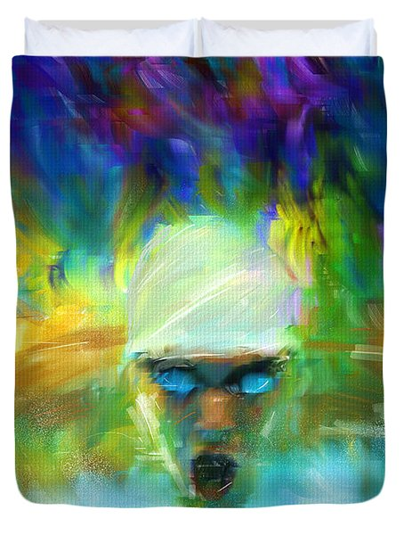 Wet And Wild Duvet Cover by Lourry Legarde