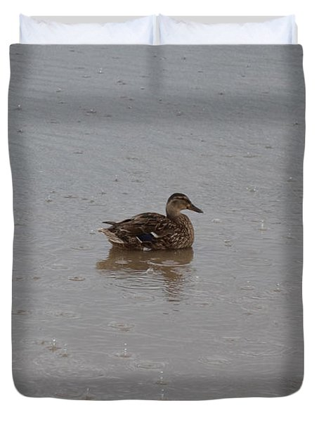 Wet Duck Duvet Cover