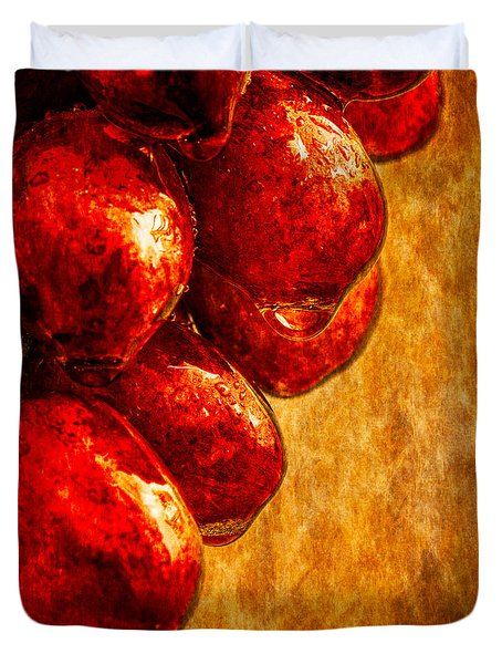 Wet Grapes Three Duvet Cover by Bob Orsillo