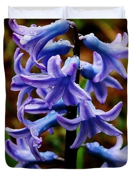 Wet Hyacinth Duvet Cover