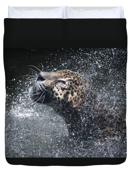 Wet Jaguar  Duvet Cover