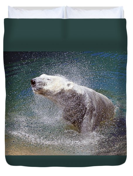 Wet Polar Bear Duvet Cover