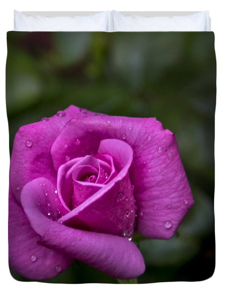 Wet Rose Duvet Cover