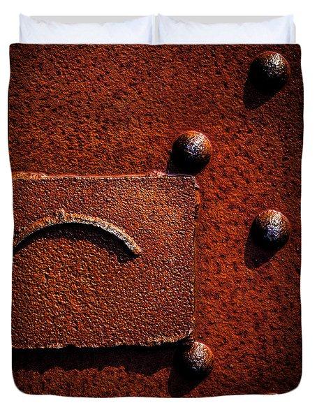Wet Rust Duvet Cover by Bob Orsillo