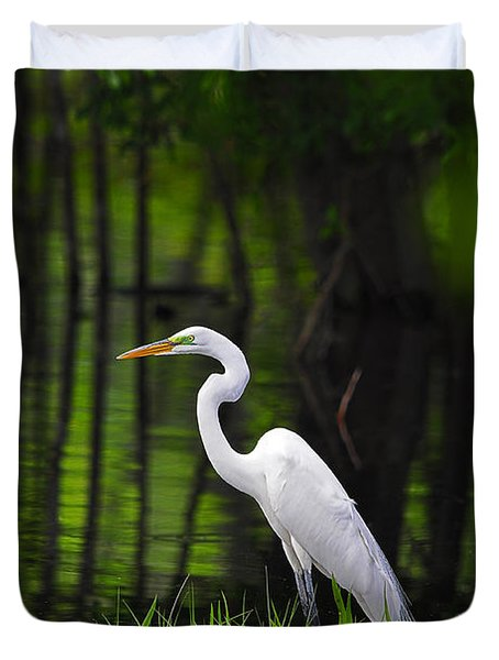 Wetland Wader Duvet Cover by Al Powell Photography USA