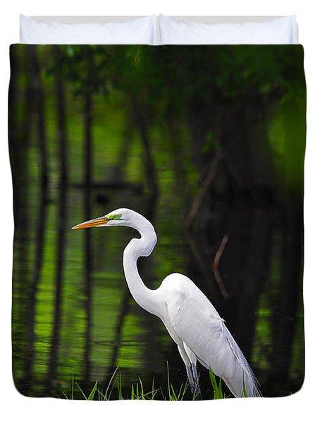Wetland Wader Duvet Cover