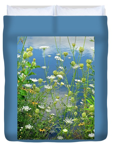 Wetland Wildflowers Duvet Cover