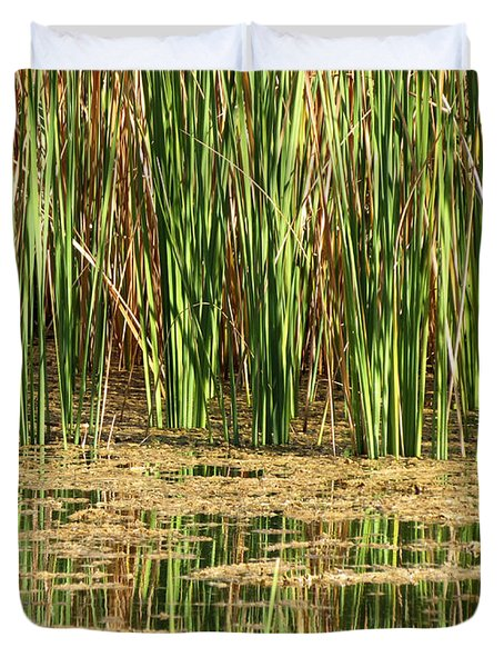Duvet Cover featuring the photograph Wetlands by Laurel Powell