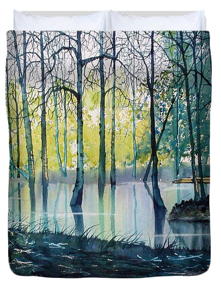 Wetlands On Skipwith Common Duvet Cover