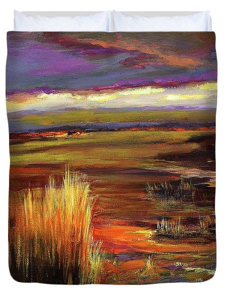Wetlands Sunset Iv Duvet Cover
