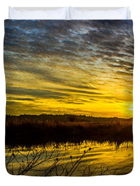 Wetlands Sunset Duvet Cover