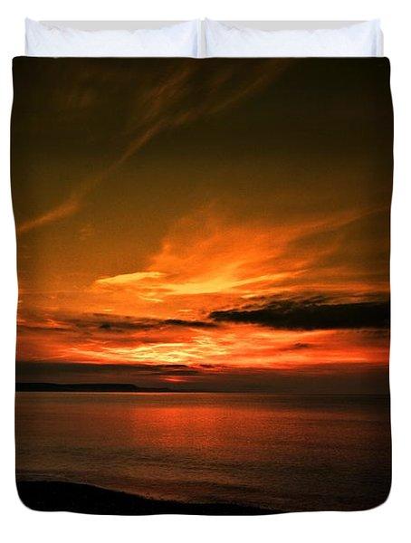 Weymouth  Golden Sunrise Duvet Cover by Stephen Melia