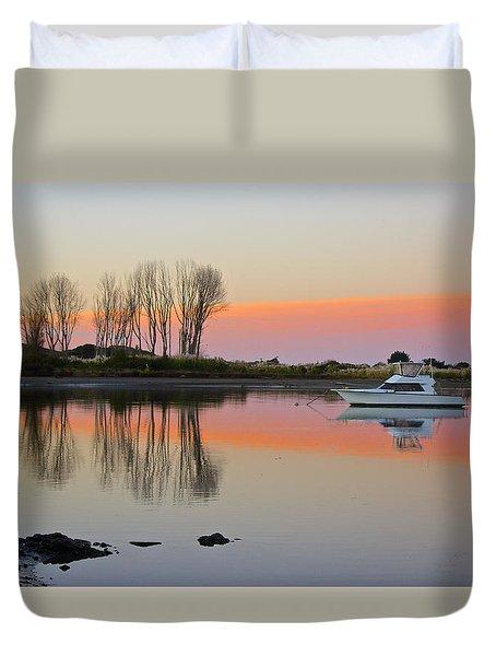 Whakatane At Sunset Duvet Cover by Venetia Featherstone-Witty