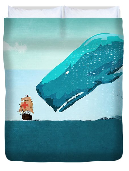 Whale Duvet Cover by Mark Ashkenazi