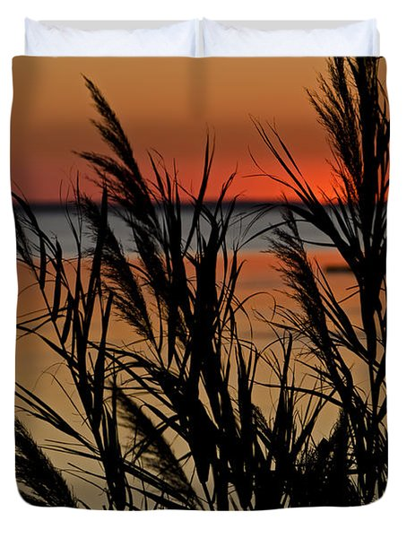 Whalehead Sunset Obx II Duvet Cover