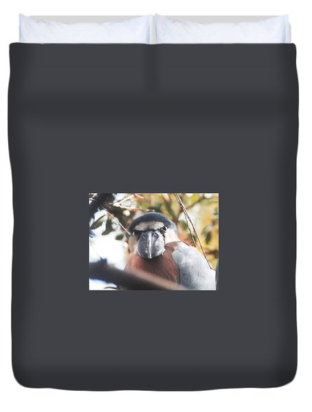 Duvet Cover featuring the photograph Funny Bird Face by Belinda Lee