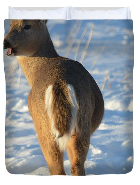 What Do You Think This Deer Is Saying? Duvet Cover