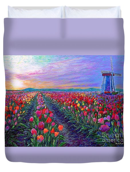 Tulip Fields, What Dreams May Come Duvet Cover
