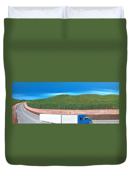 What Happened To My Homeland Duvet Cover by Tim Mullaney