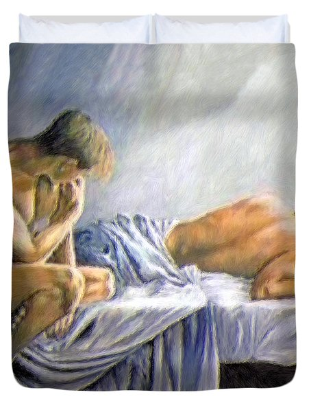What Is He Dreaming Duvet Cover