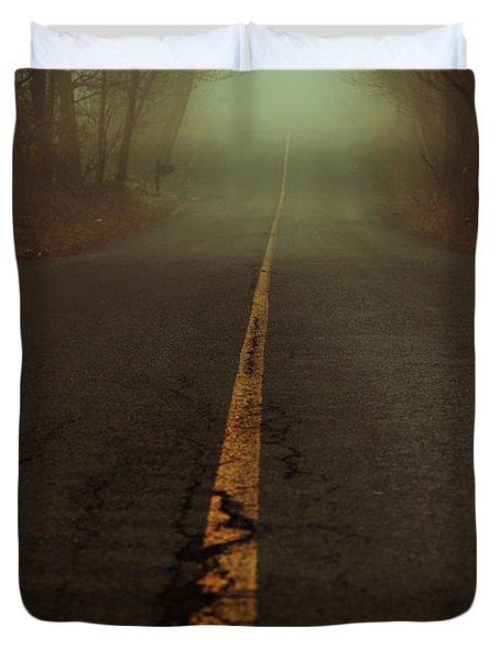 What Lies Ahead Duvet Cover by Karol Livote