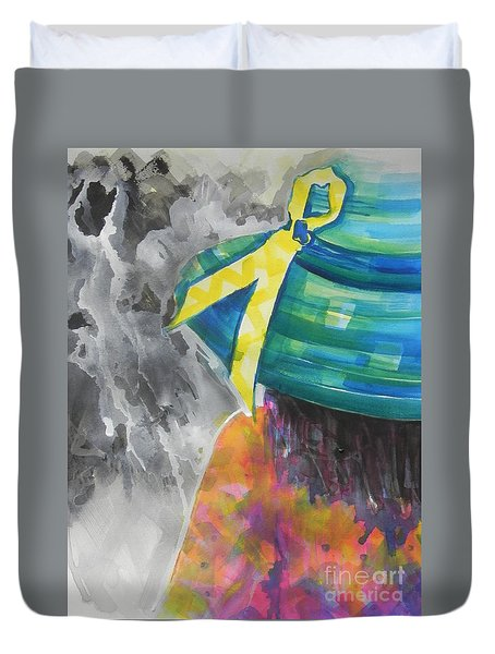 What Lies Ahead Series....chaos  Duvet Cover by Chrisann Ellis