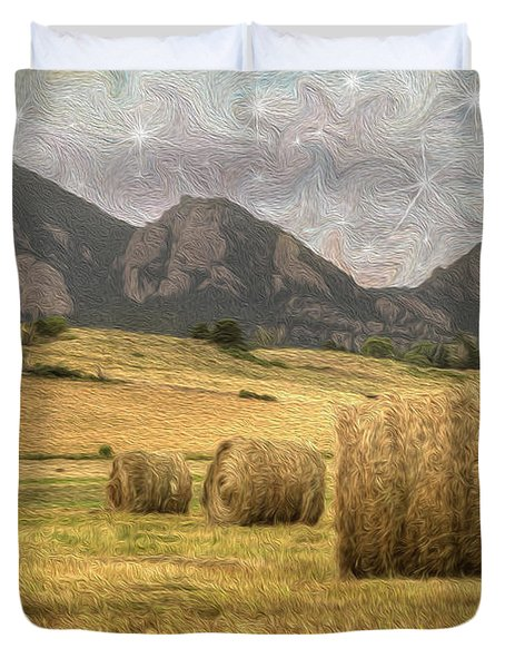 What The Hay Duvet Cover by Juli Scalzi
