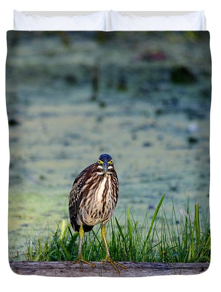 Duvet Cover featuring the photograph Whatcou Lookin' At? by David Porteus