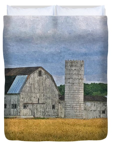 Wheat Field Barn Duvet Cover