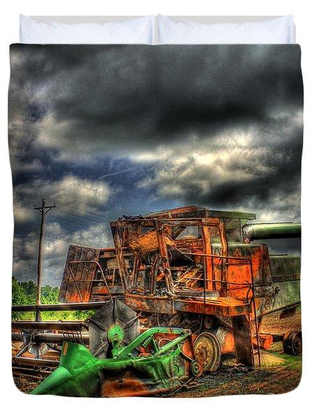Wheat Field Fire 2 Duvet Cover by Reid Callaway
