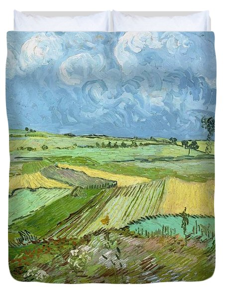 Wheat Fields After The Rain Duvet Cover