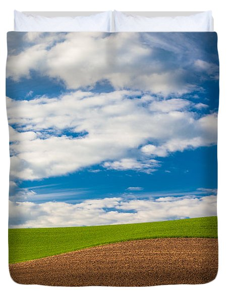 Wheat Wave Duvet Cover by Inge Johnsson