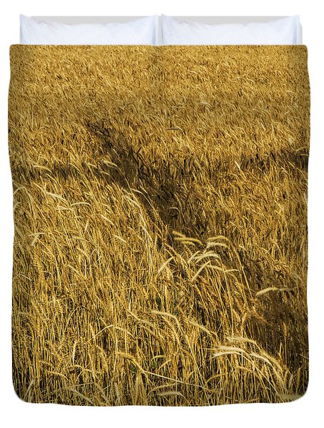 Wheat With Cross  Duvet Cover