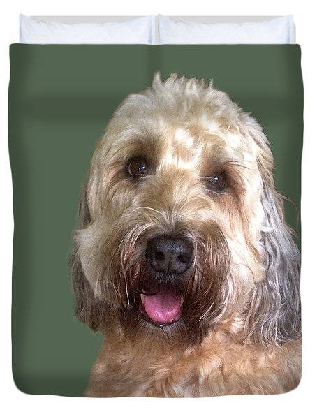 Duvet Cover featuring the photograph Wheaton Terrier by Karen Zuk Rosenblatt