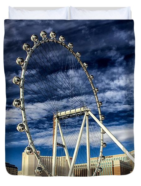 Wheel In The Sky Las Vegas Duvet Cover