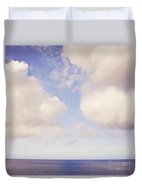 When Clouds Meet The Sea Duvet Cover