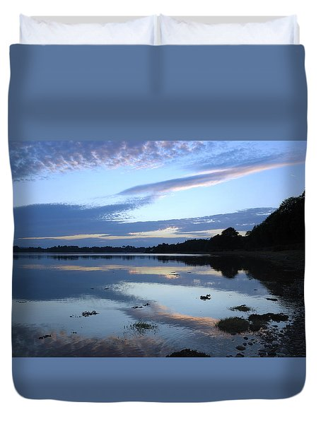 Duvet Cover featuring the photograph When Gold Turned To Blue by Wendy Wilton