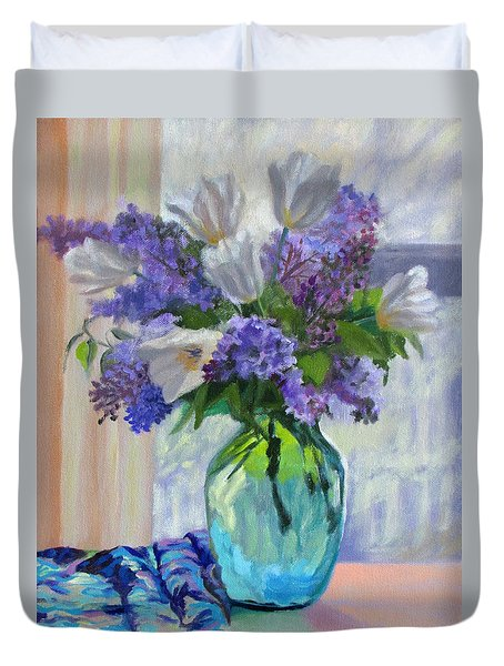 When Lilacs Bloomed Duvet Cover