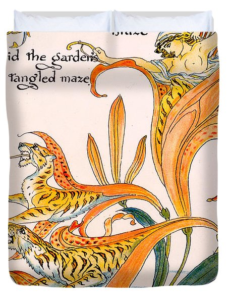 When Lilies Turned To Tiger Blaze Duvet Cover