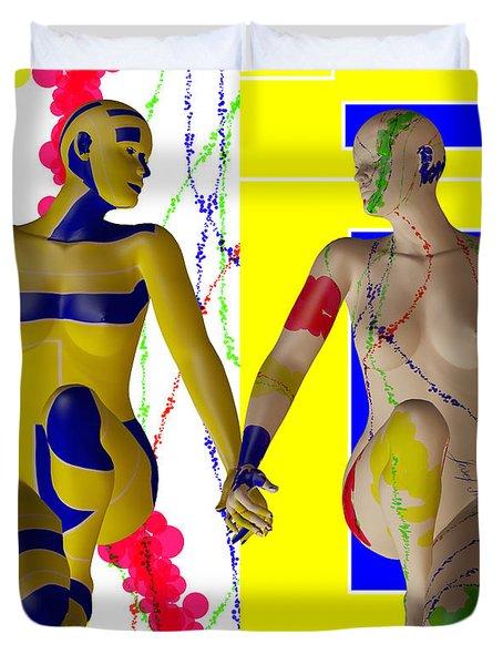 When Modern Met Abstract  Duvet Cover by Sir Josef - Social Critic -  Maha Art