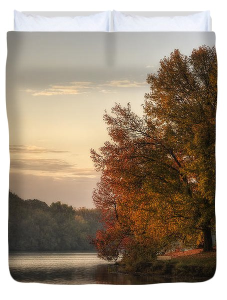 When Morning Arrives Duvet Cover by Jeff Burton