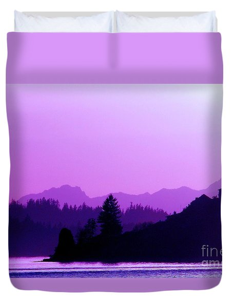 Duvet Cover featuring the photograph When The Deep Purple Falls by Chris Anderson