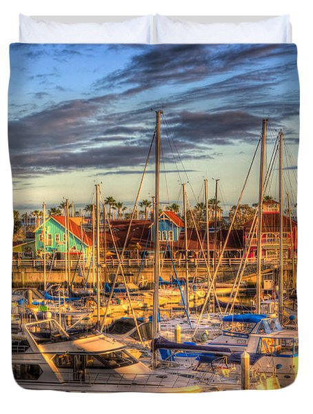 When The Sun Goes Down Duvet Cover by Heidi Smith