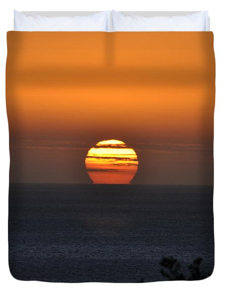 When The Sun Sets Duvet Cover by Sabine Edrissi