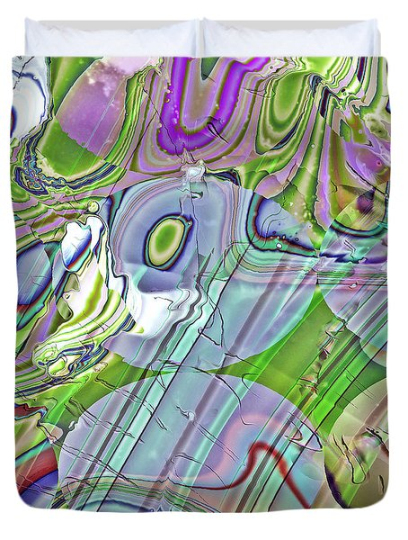 Duvet Cover featuring the digital art When Worlds Collide by Richard Thomas