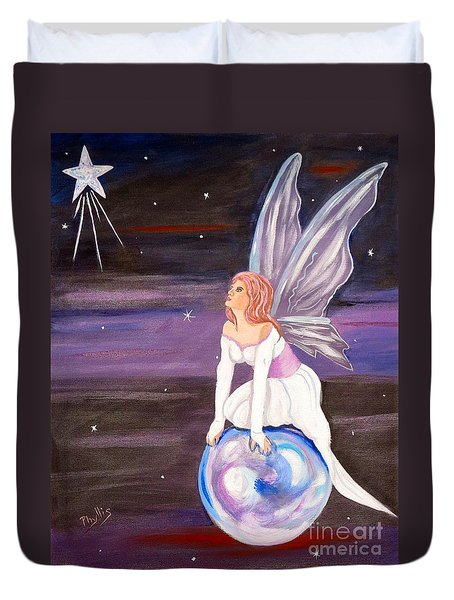 Duvet Cover featuring the painting When You Dream by Phyllis Kaltenbach